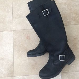 Motorcycle riding black boots size 6