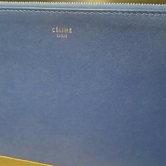 celine luggage bag buy online - celine - Authentic Celine bag blue taupe solo clutch from Wish\u0026#39;s ...