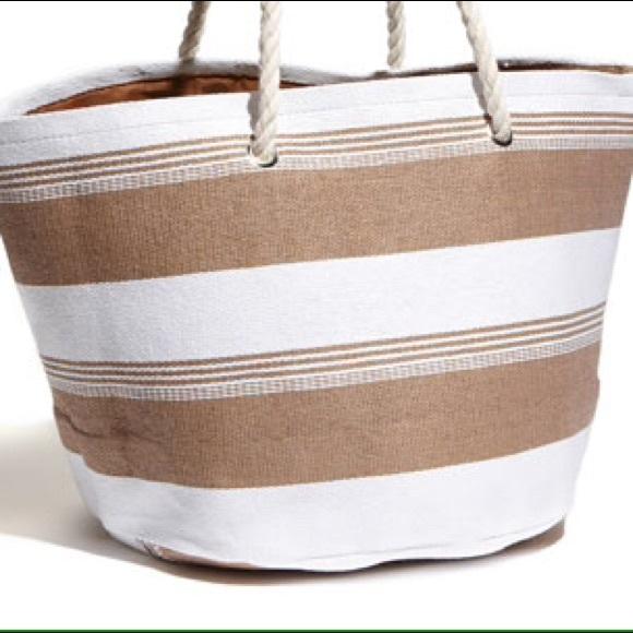 77% off Cesca Handbags - Brand new cesca rope handle beach tote ...