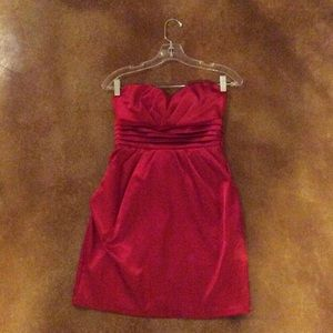 Red formal cocktail dress by As U Wish