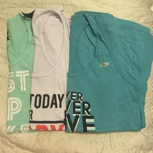 Tops - Bundle: three work out tanks