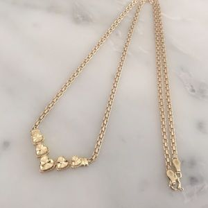 Beverly Hills Gold Jewelry 14k 5 Heart Necklace Poshmark