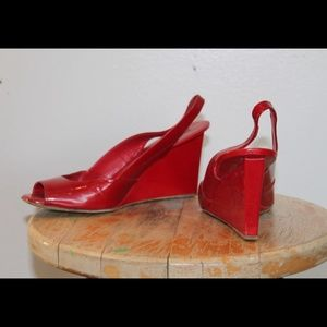Red MIU MIU shoes high heels size 8 38