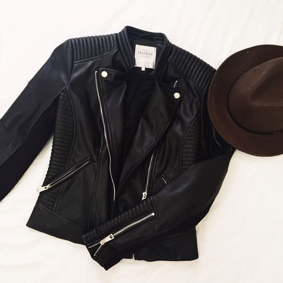 30% off Zara Jackets u0026 Blazers - Zara Trafaluc Faux Leather Moto Biker Jacket from Kittyu0026#39;s ...