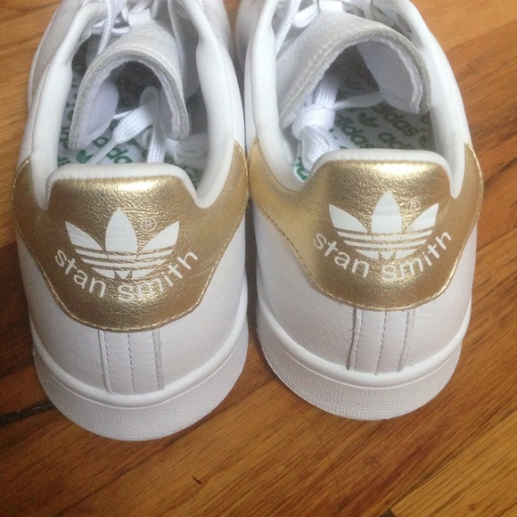 adidas customized stan smith gold