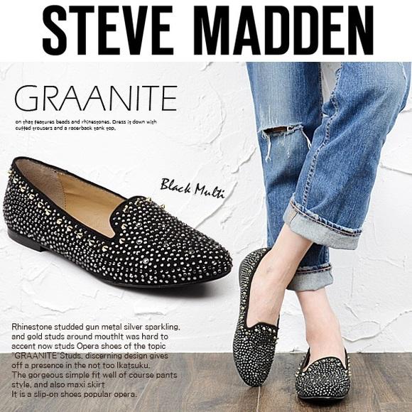 75c1231c421  Steve Madden  Graanite Studded Flats. M 55f4483bfeba1f72bf00a31b