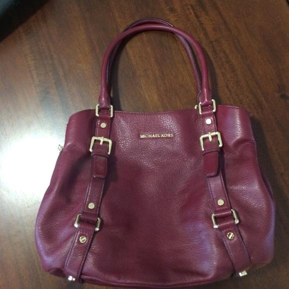 83% off Michael Kors Handbags - Michael Kors Leather Satchel Purse ...