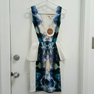 NWT keepsake Modern Art Dress Ivory