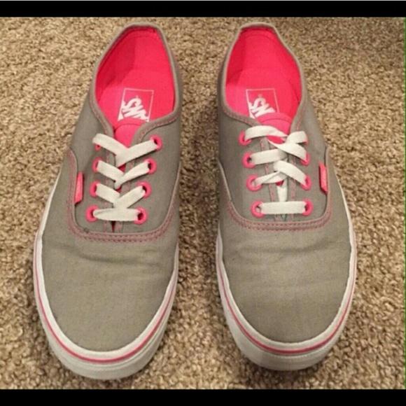 vans shoes grey women