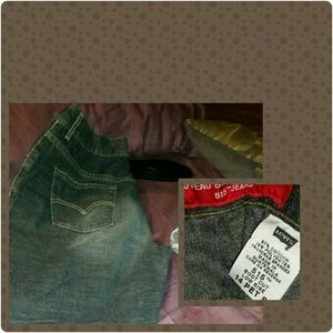 Black faded black boot cut jeans