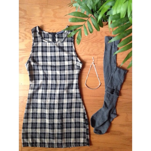 5f2c04e9b1a Brandy Melville Dresses   Skirts - Brandy Plaid School Girl Dress