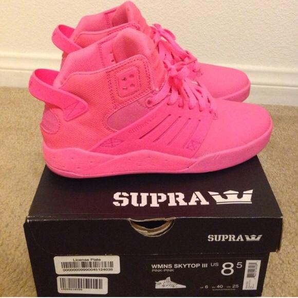 Supra Shoes | Supra Hot Pink Skytop 3