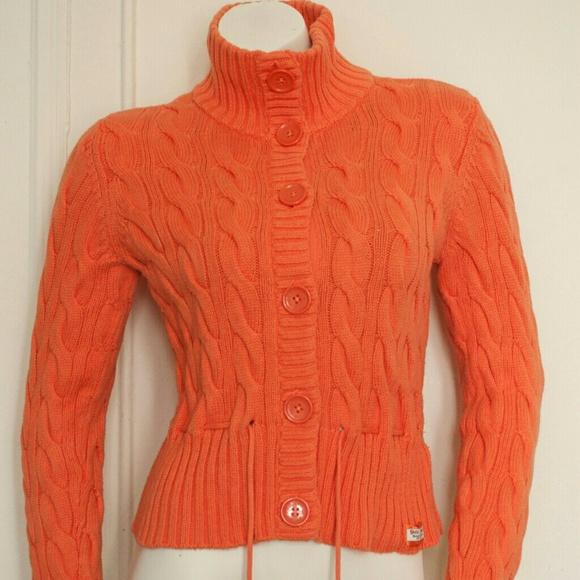 80% off Ralph Lauren Sweaters - button down turtleneck orange ...