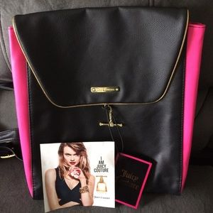 JUICY COUTURE black & pink back pack