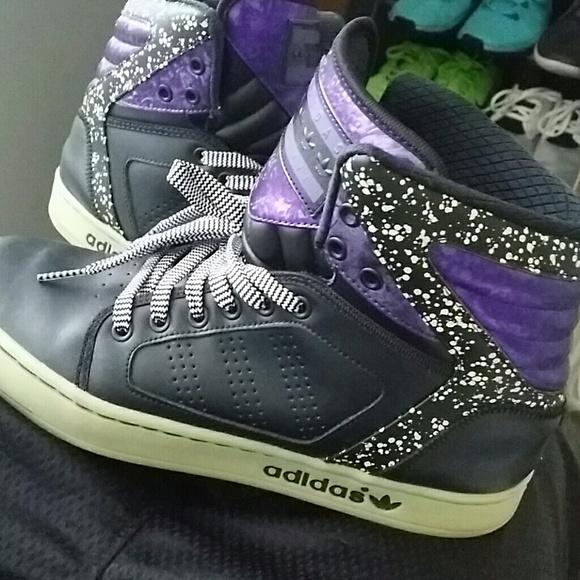 Adidas Shoes - Adidas glow in the dark high tops b89b1c3999