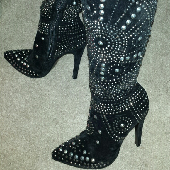 10% off Olivia Miller Shoes - New Olivia Miller studded black knee ...