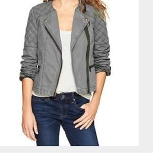 GAP Jackets & Blazers - Gap quilted Moto jacket in olive
