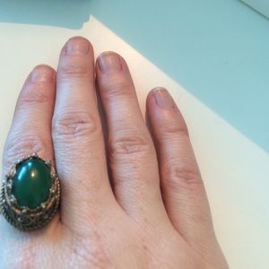 Vintage sterling costume jewelry ring