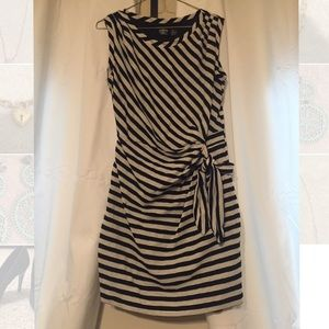 Guess Black and White Shift Dress