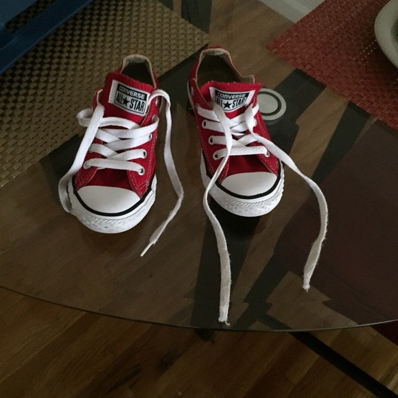 boys red converse shoes