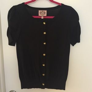 Juicy Couture black top with gold buttons