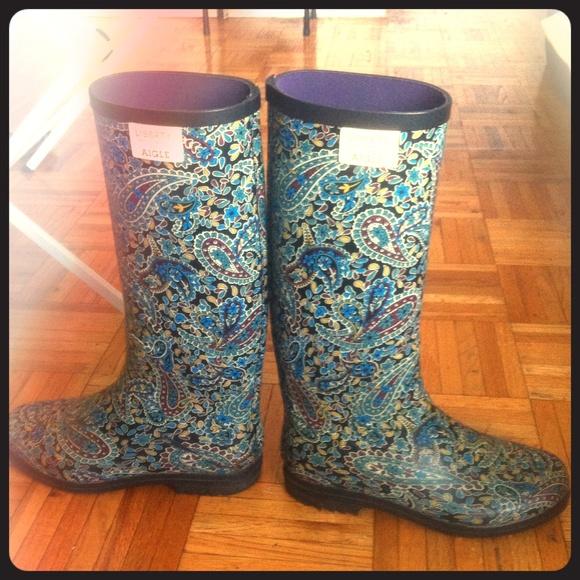83% off Aigle Shoes - Paisley print rain boots from Nadia's closet ...