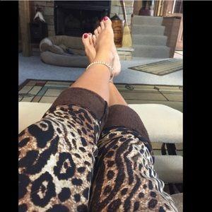 Pants - THICK Fur Lined Leopard Print Leggings