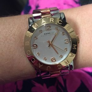 Rose Gold/Silver Marc Jacobs Watch