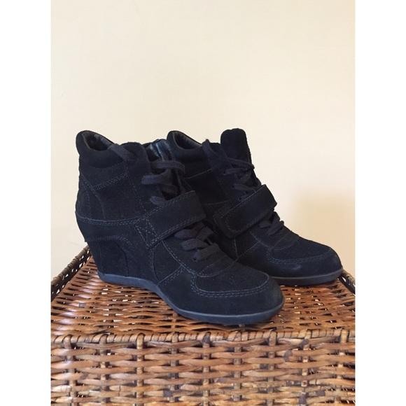 9857a1c5a3e Ash Shoes - ASH Bowie Wedge Sneaker Black