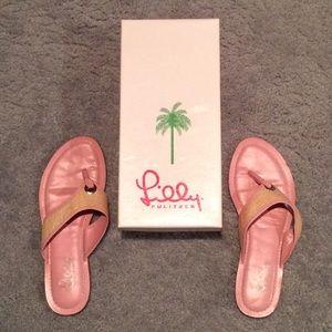 Lilly Pulitzer Wicker Sandals