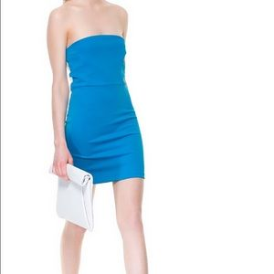 Zara W&B Collection Color-Block Dress