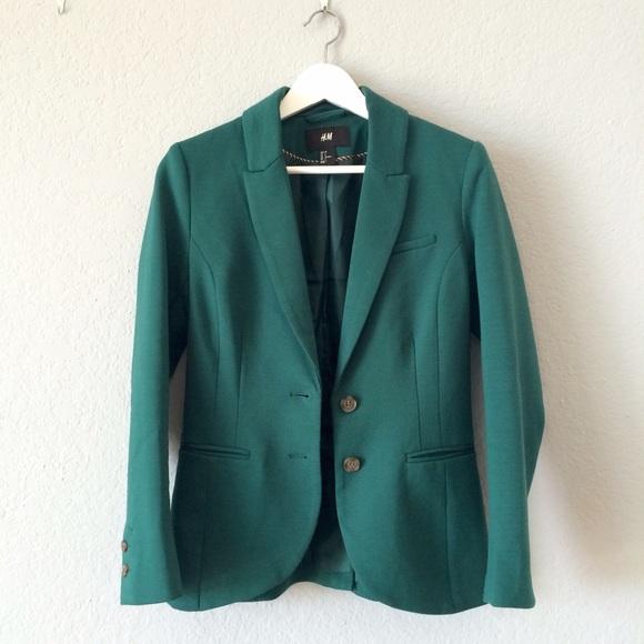 H\u0026M Jackets \u0026 Coats   Hm Pine Green