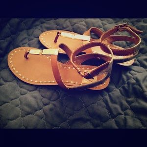 Gold Dolce Vita sandals