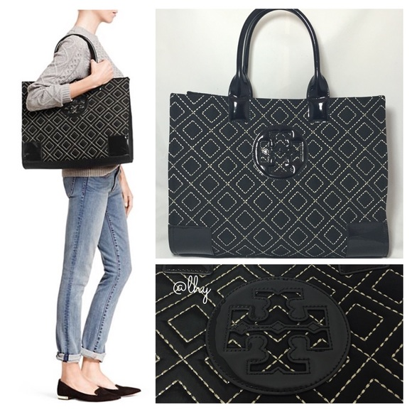 6% off Tory Burch Handbags - ❌SOLD❌TORY BURCH LARGE QUILTED ELLA ... : tory burch quilted tote - Adamdwight.com