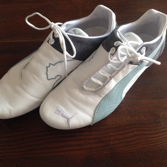 4d18eff2d0d6 Puma Shoes - PUMA•8•side tie•worn once•gray real