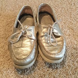 Sperry - Gold - perfect condition