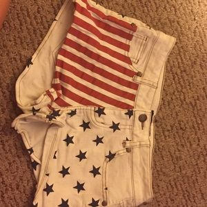 Forever 21 Pants - Forever 21 Fourth of July shorts