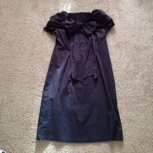 Shabby Apple L Navy Bow Dress