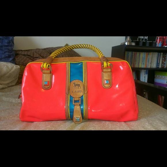L.A.M.B. Bags   Sold Lamb Kaleidoscope Bag Orangeblueyellow   Poshmark d8c2550e85