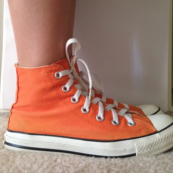 orange high tops converse