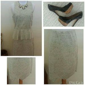 NWT🎀Bar III Heather Gray Envelope skirt