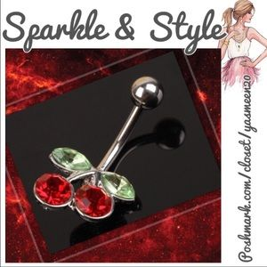 Hot red cherry belly bar