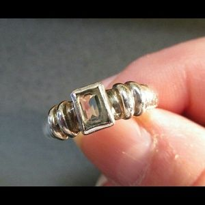 Jewelry - Sterling Silver 925 Vintage Quartz Ring