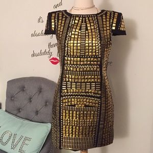 Amazing Gold plated mini dress! As seen on Mel B
