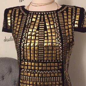 Unique Heros - Cocorigo Dresses - Amazing Gold plated mini dress! As seen on Mel B