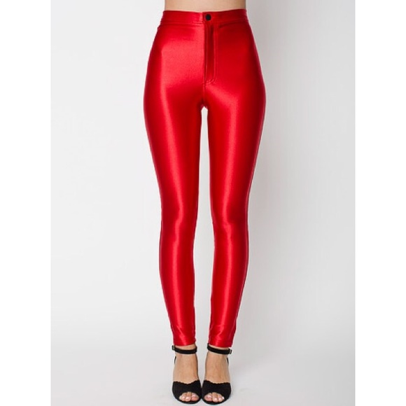 444dc627c557ea American Apparel Pants - Red American Apparel Disco Pants