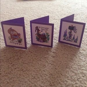 Other - 🔷 Set of 3 small greeting cards