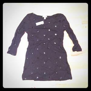BRAND NEW!! Old Navy Black Sequins Shirt. Sz XS