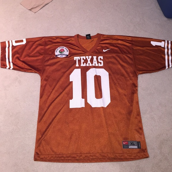 best sneakers e92fc 827d9 Vince Young Texas Longhorns jersey Rose Bowl XL