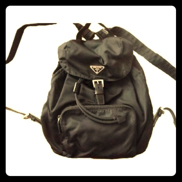 2b2db6cdf20338 Vintage 1990's Prada Nylon Backpack, army green. M_55f5055e13302afe5100fa81